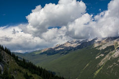 Canadian mountains, clouds. Beautiful Canadian Rockies. Banff Alberta Royalty Free Stock Photography