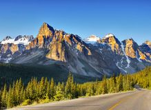 Canadian Mountains, Scenic Landscapes Royalty Free Stock Images