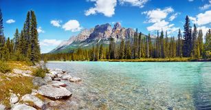 Canadian Mountains, Scenic Landscape, Canada, Banff royalty free stock photography