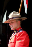 Canadian Mountie. Royal Canadian Mountie Horseguards London England royalty free stock images