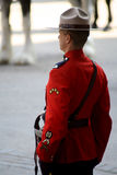 Canadian Mountie Stock Photo