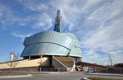 The Canadian Museum for Human Rights. View on the The Canadian Museum for Human Rights in Winnipeg City, Manitoba province, Canada. The photo was taken in Stock Photo