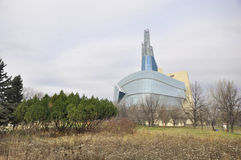 The Canadian Museum for Human Rights. View on the Canadian Museum for Human Rights in Winnipeg City, Manitoba province, Canada. The photo was taken in November stock photo