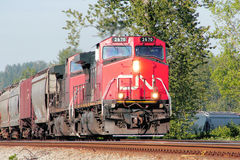 Canadian National or CN Train Engine Stock Photo