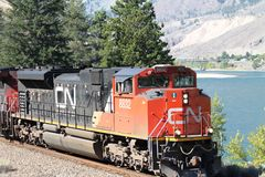 Canadian National (CN) Train Engine Stock Photography