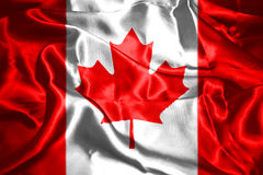 Canadian National Flag. 3D Rendering Stock Images