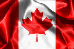 Canadian National Flag 3D Rendering. Canadian National Flag With Maple Leaf On It in Red And White Colors Stock Photography