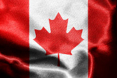 Canadian National Flag 3D Rendering. Canadian National Flag With Maple Leaf On It in Red And White Colors Royalty Free Stock Images