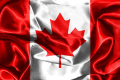 Canadian National Flag 3D Rendering. Canadian National Flag With Maple Leaf On It in Red And White Colors Stock Photo