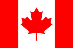 Canadian National Flag 3D Rendering. Canadian National Flag With Maple Leaf On It in Red And White Colors Stock Images