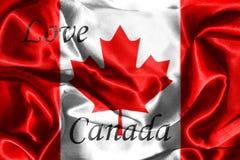 Canadian National Flag 3D Rendering Stock Photos