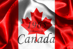 Canadian National Flag 3D Rendering Royalty Free Stock Photos