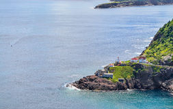 Canadian National Historic Site, Fort Amherst in St John's Newfoundland, Canada. stock photo