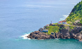 Canadian National Historic Site, Fort Amherst in St John's Newfoundland, Canada. stock photography