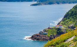 Canadian National Historic Site, Fort Amherst in St John's Newfoundland, Canada. royalty free stock images