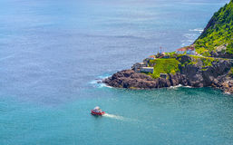 Canadian National Historic Site, Fort Amherst in St John's Newfoundland, Canada. Stock Images