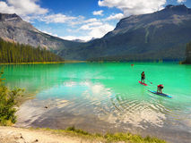 Canadian National Parks, Emerald Lake, Stock Images