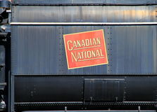 Canadian National Sign Stock Images