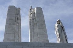 Canadian National Vimy Memorial. Front detail of Canadian National Vimy Memorial Stock Photo