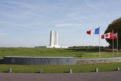 Canadian National Vimy Memorial. Distant shot of Canadian National Vimy Memorial Royalty Free Stock Photos