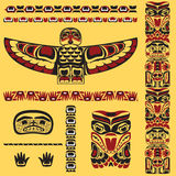 Canadian native art elements in vector. Canadian native art elements in Royalty Free Stock Photos