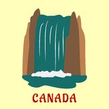 Canadian nature landmarks travel flat concept Royalty Free Stock Images