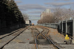 Canadian Pacific Freight Train in Port Montreal Stock Photos