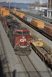 Canadian Pacific Freight Train in Port Montreal Royalty Free Stock Photography