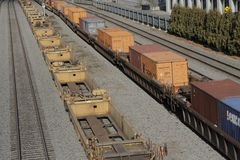 Canadian Pacific Freight Train in Port Montreal Royalty Free Stock Image
