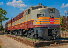 Canadian Pacific 4090 & 4469. Historic Locomotive parked in Cranbrook BC.  F3 A & B Units Royalty Free Stock Image