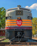 Canadian Pacific 4090 & 4469. Historic Locomotive parked in Cranbrook BC.  F3 A & B Units Stock Photo