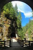 Othello Tunnels and Bridges in Coquihalla Canyon Provincial Park, British Columbia Royalty Free Stock Images