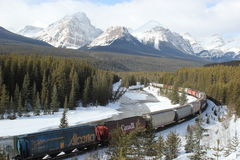 Canadian Pacific Through the Rockies Stock Image