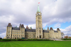 Canadian parliament. On hill in ottawa Stock Photos