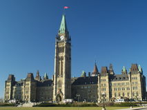Canadian parliament. Building in Ottawa (E-1 + olympus zuiko 24mm F2.8 stock images