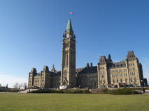 Canadian parliament. Building in Ottawa Stock Photos