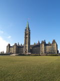 Canadian parliament. Building in Ottawa royalty free stock photography