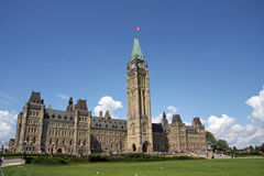 Canadian Parliament. Parliament hill of Canada Ottawa Royalty Free Stock Image