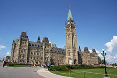 Canadian Parliament. In Ottawa Canada Stock Photos