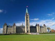 Canadian parliament. Building in Ottawa stock photography