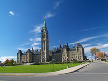 Canadian parliament Stock Photography