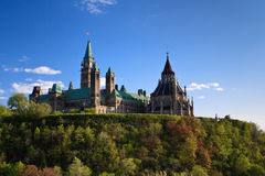 Canadian Parliament. On the top of the hill by a beautiful summer day Royalty Free Stock Photography