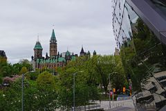 Canadian Parliament Building in downtown Ottawa royalty free stock images