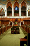Canadian Parliament Building Interior Stock Photo
