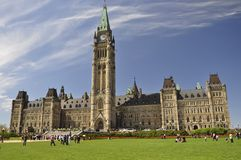 The Canadian Parliament Building in Ottawa Royalty Free Stock Image