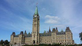 Canadian parliament building Stock Images
