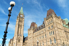 Canadian Parliament buildings in Ottawa, Canada Royalty Free Stock Photo