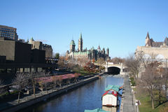 Canadian Parliament and canal Royalty Free Stock Image