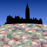 Canadian Parliament with cash Stock Photos