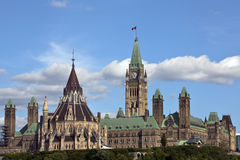 The Canadian Parliament Centre Block and Library Royalty Free Stock Photo